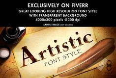 create Any Word you want in a Artistic Font Style by asart_3d