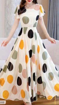 Stylish Dresses For Girls, Frocks For Girls, Stylish Dress Designs, Designs For Dresses, Elegant Dresses, Casual Dresses, 60s Dresses, Cheap Dresses, Maxi Dresses