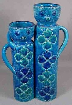 Unusual Pottery People Vase by Bitossi