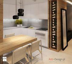 Apartamentowiec w górach, w Szklarskiej Porębie - Średnia kuchnia, styl nowoczesny - zdjęcie od add design