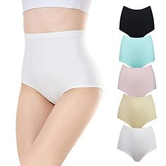 5Quality Lot Butterfly Boxer Cotton Hi-Wasit Tummy Control Boyshorts Panty S-3XL