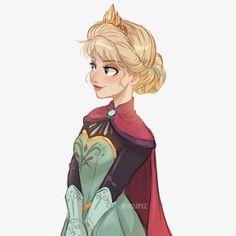 veryone's favorite queen ❄️👑 Disney Princesses And Princes, Disney Princess Drawings, Disney Princess Art, Disney Drawings, Frozen Drawings, Princess Zelda, Disney Artwork, Disney Fan Art, Cute Disney