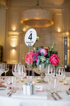 modern wedding table number ideas | CHECK OUT MORE IDEAS AT WEDDINGPINS.NET | #wedding