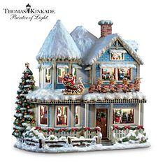 Thomas Kinkade 'Twas The Night Before Christmas Story House #ArtOfGiving #Christmas