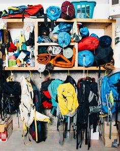 Yes!  i will have a gear room with all the stuff I need for camping, climbing, surfing, skiing, boarding, swimming, running, cycling, wind surfing, backpacking, & kayaking