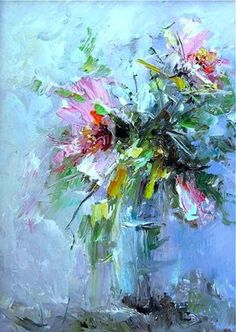 "Receive excellent ideas on ""contemporary abstract art painting"". They are actually on call for you on our internet site. Pinturas Em Tom Pastel, Contemporary Abstract Art, Impressionist Art, Arte Floral, Abstract Flowers, Hanging Art, Flower Art, Watercolor Art, Artwork"