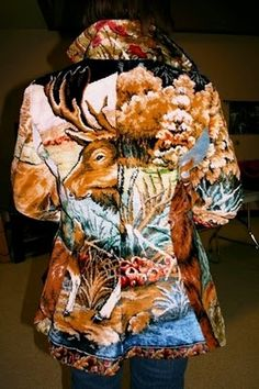 Vintage Tapestry Patchwork Coat!!! Oh, my!!!