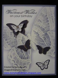 Swallowtail. #su.  Lynn is on my team and this card is even more pretty in person!  :)