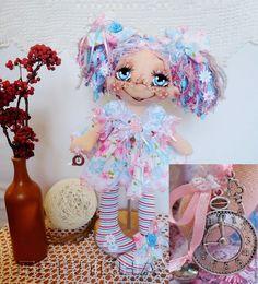 Купить Текстильная кукла Фея Счастливых Часов. Интерьерная кукла. - интерьерная кукла, текстильная кукла