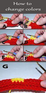 change colors #crochet