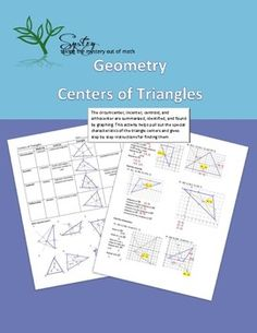 how to find circumcenter incenter centroid and orthocenter
