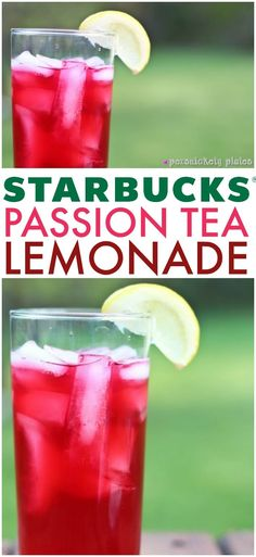 Copycat Starbucks Passion Tea Lemonade - a super simple recipe to make your favorite Starbucks drink right at home! | www.persnicketyplates.com