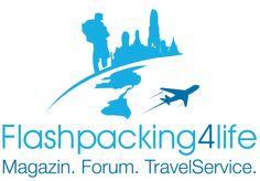Reiseblog Flashpacking4Life: Thailand, Philippinen u. Südostasien, Vietnam Backpacker Logo
