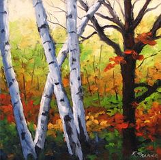 Birch Tree Painting - Birches 05 by Richard T Pranke Picture Wall, Close Up, Fine Art America, Pictures, Birches, Painting, Design, Ideas, Photos