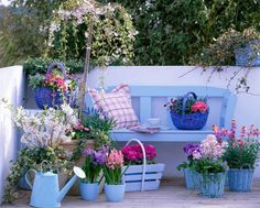 This And That In My Treasure Box: Spring Inspiration: Patio garden designs for apartment and backyard!