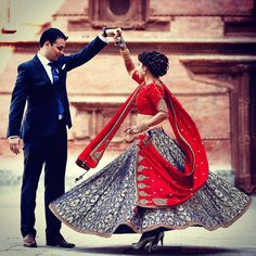One of our gorgeous client on her wedding wearing Dhruv Singh lehenga... heart emoticon #dhruvsingh #bride #stunning