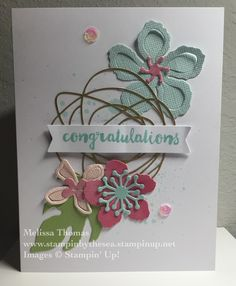 Stampin' Friends Blog Hop for pastels/spring! Comment #SFMarHop to win fabulous prizes! This card uses base materials from Paper Pumpkin!