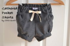 Little Quail: Gathered Pocket Shorts Tutorial and Pattern
