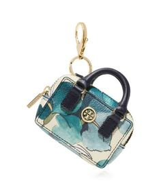 Tory Burch Kerrington Shrunken Boxy Satchel Key Fob