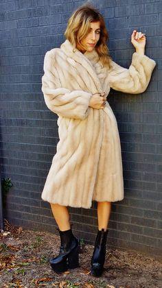 TISAVEL faux fur coat. car coat. ladylike by AlexAndAftonVintedge