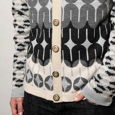 Mens knitted cardigan via Etsy.