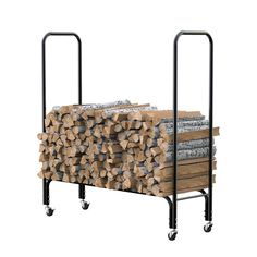 Firewood Rack Log Wood Holder Rack Log Holder Steel 1.2 M High 150 kg Load