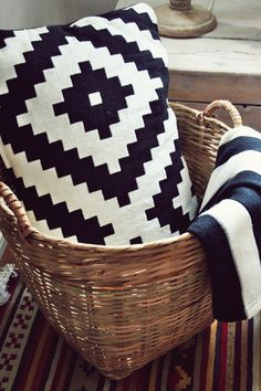 LAPPLJUNG RUTA Cushion cover IKEA - Great for adding punch to living areas and bedrooms - EIVOR Plaid - #myIKEAbedroom