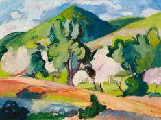 'Ibiza Landscape' by Edward Wolfe, 1953
