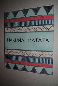 Hakuna Matata Canvas by thegirlsinpearls on Etsy
