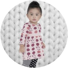 SOOKIbaby Panda Crazy Crossover Dress Price: $ 38.95  Panda Crazy Crossover baby dress by iconic SOOKIbaby - the very best in gorgeous, funky and stylish fashion for babies!  Super sweet little dress crossover dress features super fun and quirky panda print on front and stripes on back (as pictured) - wear it alone or layer with some SOOKIbaby leggings on chilly winters days!  #panda #sookibaby #babygirlsdresses