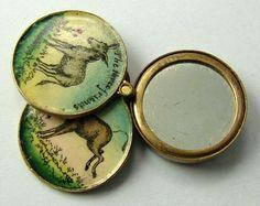 Victorian Enamel Painted Brass Donkey Slider Charm