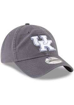 da019008f6738 New Era Kentucky Wildcats Mens Grey Core Classic 9TWENTY Adjustable Hat