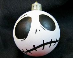 Nightmare Before Christmas Ornament - Jack Skellington Face Decoration
