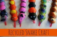 Recycled Snake Craft - Things to Make and Do, Crafts and Activities for Kids - The Crafty Crow