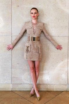 Kate Bowsorth with Balmain saharian minidress