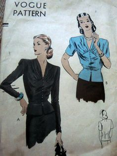 Vogue 5055, blouse 1944, size 16