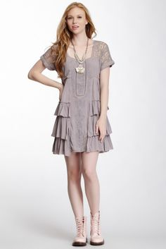 Free People Sunbeam Gauze Dress