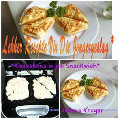 LEKKER RESEPTE VIR DIE JONGERGESLAG: KAASSKONS IN JOU SNACKWICH Waffles, French Toast, Muffins, Bread, Baking, Breakfast, Recipes, Sweet Stuff, Yum Yum
