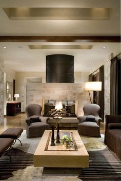 Cozy Living Room Design In Ranch House