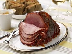 Slow-Cooker Ham with Apricot-Dijon Glaze Recipe : Food Network Kitchen : Food Network