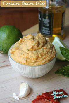 Tuscan Garbanzo Bean Dip inspired by recipe in new Real Family Food cookbook from @Cooking Light