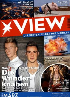 VIEW Heft 03/2013 Mario, Cover, Movie Posters, Marco Reus, Running Away, Vatican, Health, Photo Illustration, Film Poster