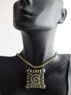 New to TheBlackerTheBerry on Etsy: African Pendant Necklace Geometric Black and Gold Tribal Jewelry Handmade Afrikan Necklaces African Pendant Afrocentric Jewellery