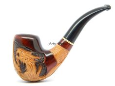 Tobacco Smoking Pipe Dragon Hand carved of Pear wood by ArtyStore