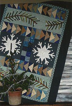 Primitive Folk Art Wall Quilt Pattern:  FIRST SNOW