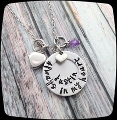 Cremation Jewelry, URN Jewelry, Custom Memorial Necklace, Remembrance Jewelry, Sympathy Gift, Cremation Urn, In my Heart