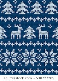 Knitted Christmas New Year Pattern vector de stock (libre de regalías) 530727205 Baby Knitting Patterns, Baby Hat Patterns, Crochet Square Patterns, Christmas Knitting Patterns, Knitting Charts, Knitting Designs, New Year Designs, Butterfly Crafts, Ikat Print