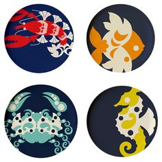 Found it at AllModern - Thomas Paul Amalfi Dinner Plate (Set of 4). Love how fun these are and great colors!