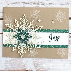 Snowfall Thinlits from Stampin' Up!Stampin' Up! snowflake showcase - My WordPress WebsiteA floating card and Snowflake showcase Christmas Cards 2018, Homemade Christmas Cards, Stampin Up Christmas, Handmade Christmas, Homemade Cards, Holiday Cards, Christmas Crafts, Christmas Vacation, Christmas Card Making
