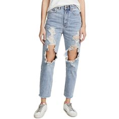 Ksubi Chlo Wasted Jeans ($215) ❤ liked on Polyvore featuring jeans, bust a cap, fitted jeans, ksubi jeans, distressed jeans, ripped zipper jeans and distressed zipper jeans